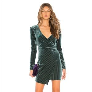 REVOLVE Hayden Mini Dress in Moss Green S